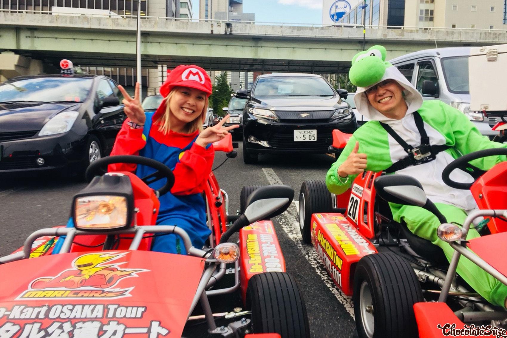 Real Life Mario Kart with MariCAR, Osaka - ChocolateSuze